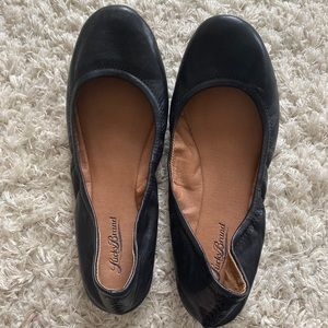 Lucky Brand Black Leather Flats (New)